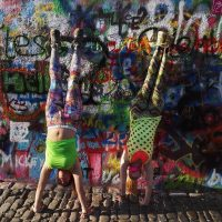 Handstands by The Wall