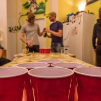 Classic solo cup shot