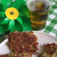 Potato Latkas for St Paddy's Day