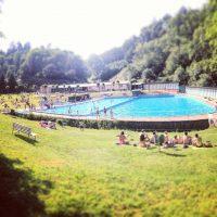 Hitting the pool at Divoka Sarka